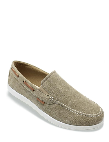 Dr Keller Mens Wide Fit Slip On Canvas Shoe