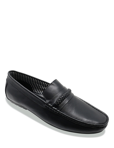 Mens Leather Wide Fit Driving Shoes
