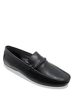 Pegasus Leather Wide Fit Driving Shoes