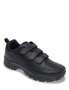 Pegasus Touch Fasten Wide Fit Pu Walking Shoe
