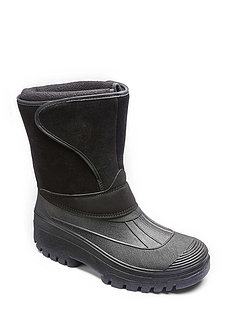 Cushion Walk Wide Fit Touch Fasten Snow Boot