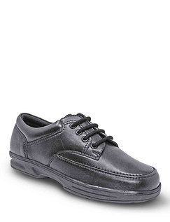 Dr Keller Wide Fit Lace Leather Shoe