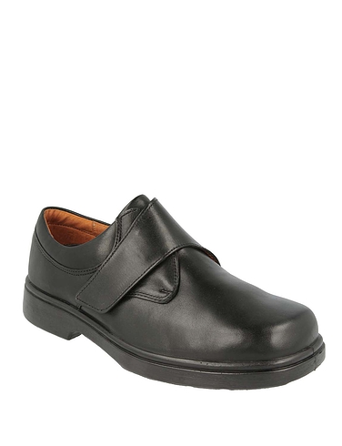 Mens DB Shoes Reece Leather Touch Fasten Extra Wide EE to 4E
