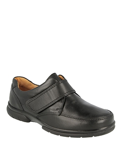 Mens DB Shoes Havant Leather Touch Fasten Extra Wide Fit EE-4E