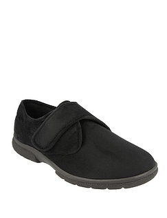 Mens DB Shoes Daniel Touch Fasten Extra Wide EE-4E Slipper