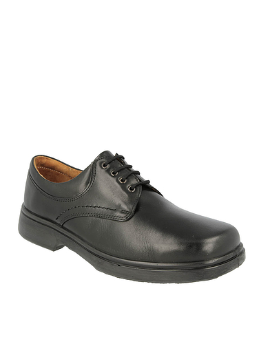 DB Mens Shannon Leather Extra Wide Ee To 4E Lace Shoes