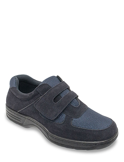 Cushion Walk Wide Fit Touch Fasten Shoe With Gel Pad