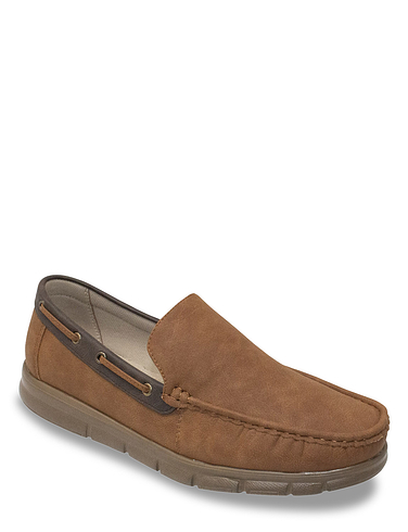 Cushion Walk Wide Fit Slip On Boat Shoes