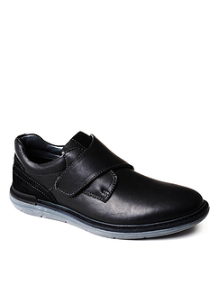 Mens Luxury Leather Touch Fasten Shoe