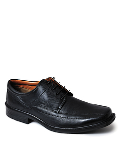 Mens Leather Wide Fit Lace Shoe