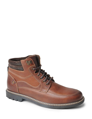 Mens Luxury Leather Lace Up Boots