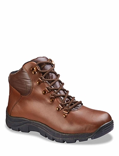 Pegasus Leather Waterproof Wide Fit Lace Hiker Boot