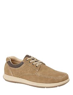 Mens Faux Leather Lace Comfort Shoe