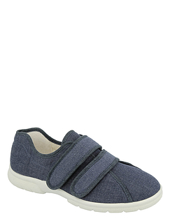 DB Harris Touch Fasten Extra Wide Ee-4E Canvas Shoes
