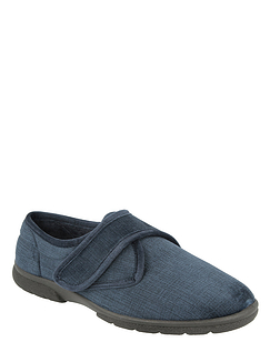 Touch Fasten House Shoe Extra Wide EE-4E DB Shoes Hallam
