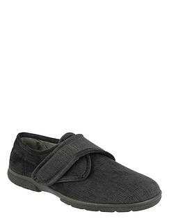 Touch Fasten House Shoe Ultra Wide 6E-8E DB Shoes Hallam