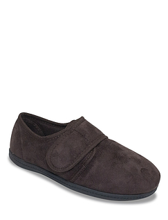 The Fitting Room Extra Wide Fit Touch Fasten Slipper