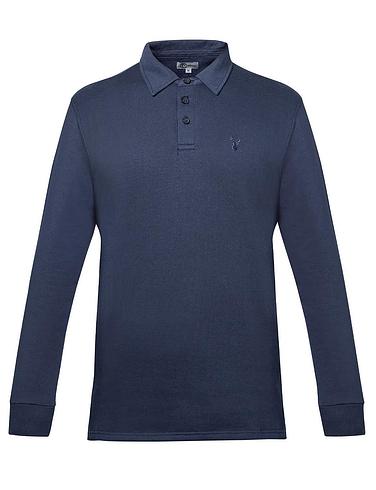 Woven Collar Polo Sweatshirt