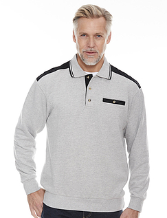 Polo Collar Sweatshirt