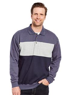 Polo Collar Sweatshirt