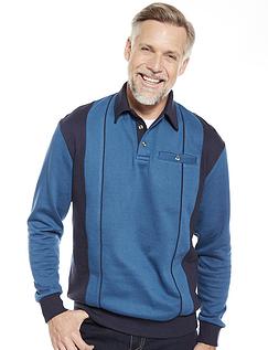 Pegasus Polo Collar Sweatshirt