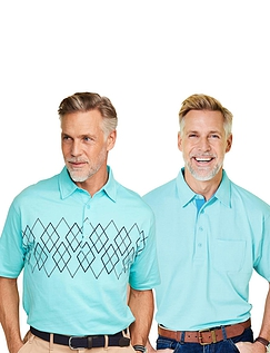 Pegasus Pack of 2 Tailored Collar Polo Shirts