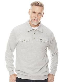 Fleece Sweatshirt With Two Chest Pockets And Tailored Collar