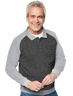 Pegasus Marl Fleece Raglan Sleeve Knitted Sweatshirt