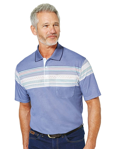 Pegasus Stripe Design Polo Shirt