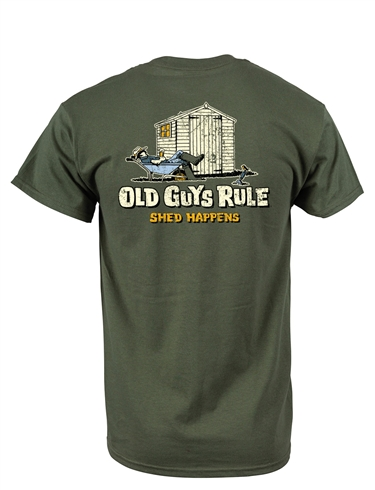 Old Guys Rule Shed Happens T Shirt