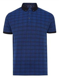 Lizard King Short Sleeve All Over Check Polo