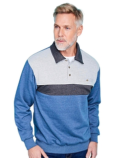 Pegasus Fleece Sweatshirt With Tailored Collar And Chest Pocket