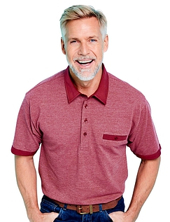 Tailored Collar Cotton Polo With Chest Pocket