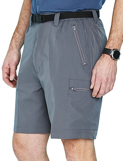 Mens Water Resistant Stretch Walking Shorts With Belt