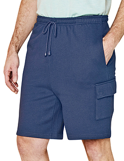 Fleece Cargo Short With Fully Elasticated Waist