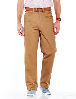 Pegasus Stretch Chino Trouser With Free Belt - tan