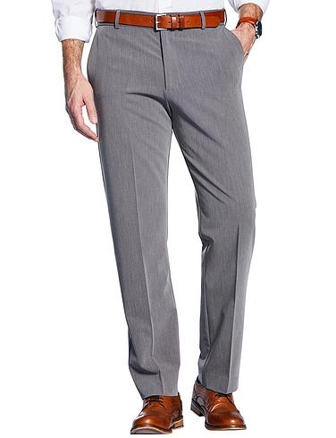 Farah Four Way Stretch Poly Trouser with Slant Pocket