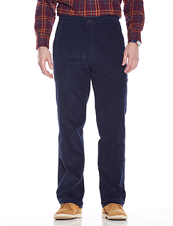 Fleece Lined Pull On Cord Trousers