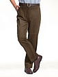 LUXURY COTTON REGULAR RISE CORDUROY TROUSERS WITH RIGID WAISTBAND