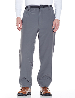 Fleece Lined Water Resistant 2-Way Stetch Trouser And Woven Belt