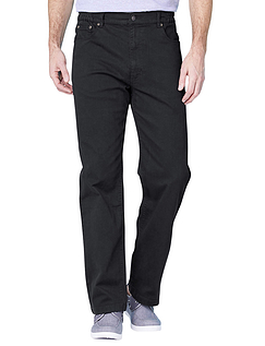 Pegasus Mens Twill Stretch Jeans with Side Elastic Waist