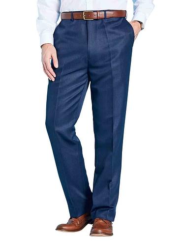 Lightweight Polyester Trouser With Hidden Stretch