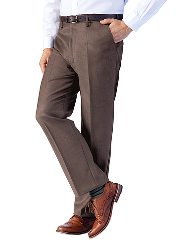 Traditional Woolblend Trouser With Stretch Waist