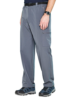 Mens Water Resistant Stretch Walking Trousers With Belt
