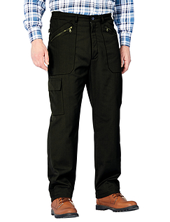 Fleece Lined Action Trouser - Black