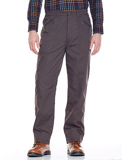 Fleece Lined Action Trouser - Charcoal