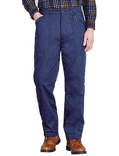 Fleece Lined Action Trouser - Navy