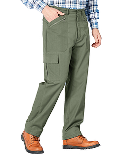 Fleece Lined Action Trouser - Olive