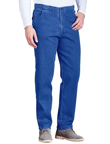 Elastic Waist Denim Jean in Stretch fabric