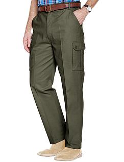 Cotton Cargo Style Trouser - Khaki